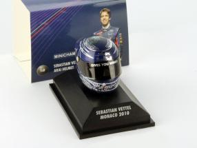S. Vettel Red Bull GP Monaco Formula 1 World Champion 2010 Helmet 1:8 Minichamps