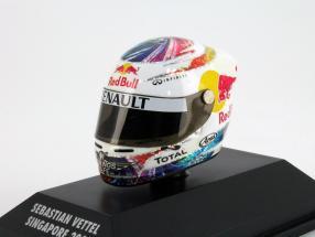 S. Vettel Red Bull GP Singapur Formel 1 Weltmeister 2011 Helm 1:8 Minichamps