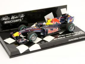 S. Vettel Red Bull RB6 worldchampion Abu Dhabi formula 1 2010 1:43 Minichamps