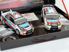Mitsubishi Lancer Evo IX / X 2 Car-Set Rallye Winner 2009 / 2010 1:43 Vitesse
