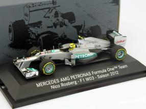 N. Rosberg AMG Mercedes W03 Formula 1 2012 1:43 Minichamps MB
