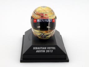 S. Vettel Red Bull RB8 Formel 1 Weltmeister 2012 GP Austin Texas Helm 1:8 Minichamps