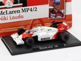 Niki Lauda McLaren MP4/2 #8 World Champion formula 1 1984 1:43 Altaya