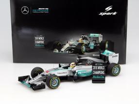 L. Hamilton Mercedes F1 W06 Hybrid #44 World Champion USA GP F1 2015 1:18 Spark