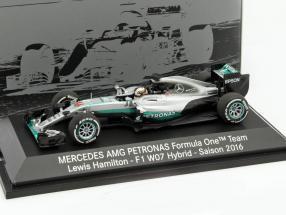 Lewis Hamilton Mercedes F1 W07 Hybrid #44 formula 1 2016 1:43 Minichamps MB