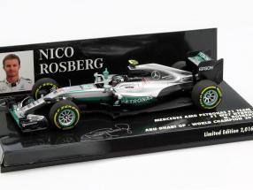 Nico Rosberg Mercedes F1 W07 Hybrid #6 Weltmeister Abu Dhabi GP F1 2016 1:43 Minichamps