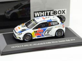 Volkswagen VW Polo R WRC #2 Winner Rally Sweden 2014 Latvala, Anttila 1:43 WhiteBox
