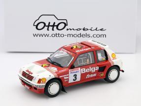 Peugeot 205 T16 Groupe B #3 Rally Ypres 1985 Darniche, Mahe 1:18 OttOmobile