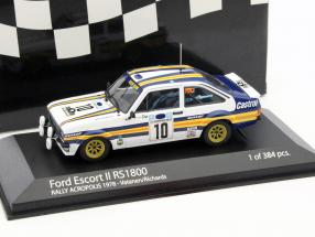 Ford Escort II RS1800 #10 rally Acropolos 1978 Vatanen,Richards 1:43 Minichamps