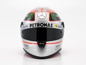 M. Schumacher Mercedes GP W03 formula 1 Spa 300th GP 2012 platinum helmet 1:2 Schuberth