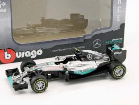 Nico Rosberg Mercedes F1 W07 Hybrid #6 World Champion formula 1 2016 1:43 Bburago