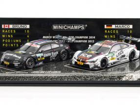 2-Car Set Winner DTM 2012 #7 BMW M3 Spengler / 2014 #23 BMW M4 Wittmann 1:43 Minichamps