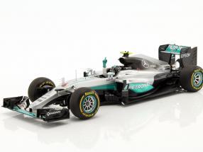 Nico Rosberg Mercedes F1 W07 Hybrid #6 Weltmeister Abu Dhabi GP F1 2016 1:18 Spark