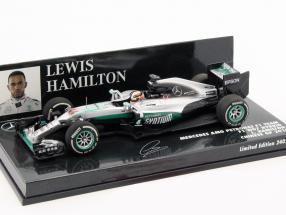Lewis Hamilton Mercedes F1 W07 Hybrid #44 China GP Formel 1 2016 1:43 Minichamps
