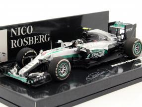 Nico Rosberg Mercedes F1 W07 Hybrid #6 World Champion China GP F1 2016 1:43 Minichamps