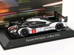Porsche 919 Hybrid #1 24h LeMans 2016 Bernhard, Webber, Hartley 1:43 Spark