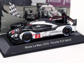 Porsche 919 Hybrid #2 Winner 24h LeMans 2016 Lieb, Dumas, Jani 1:43 Spark