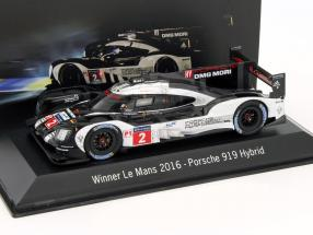 Porsche 919 Hybrid #2 Winner 24h LeMans 2016 Dirty version 1:43 Spark