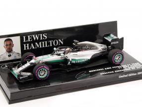 L. Hamilton Mercedes F1 W07 Hybrid #44 Halo Testing Singapore GP F1 2016 1:43 Minichamps