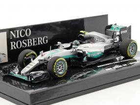 N. Rosberg Mercedes F1 W07 Weltmeister Abu Dhabi GP Formel 1 2016 1:43 Minichamps