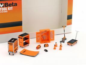 Werkstatt Zubehör Beta Tool Kit orange / schwarz 1:43 TrueScale