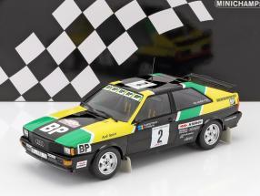 Audi Quattro #2 rally des 1000 Pistes 1981 Mouton / Pons 1:18 Minichamps