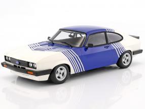 Ford Capri 3.0 year 1978 hite / blue 1:18 Minichamps