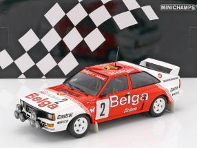 Audi Quattro A2 #2 Winner Rallye Boucles de Spa 1985 Waldegaard, Thorszelius 1:18 Minichamps