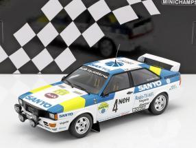 Audi Quattro #4 Winner International Swedish Rallye 1982 Blomqvist, Cederberg 1:18 Minichamps
