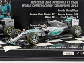 N. Rosberg #6 & L. Hamilton #44 Mercedes F1 W06 Hybrid 2-Car Set formula 1 2015 1:43 Minichamps