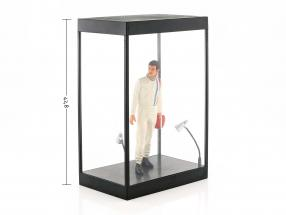Single cabinet with 2 mobile led lamps for figures in scale