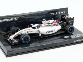 Valtteri Bottas Williams FW38 #77 Brazilian GP formula 1 2016 1:43 Minichamps