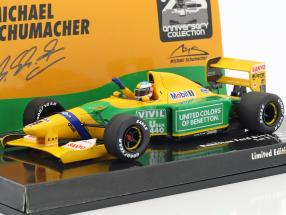 M. Schumacher Benetton B192 #19 first Win Belgium GP formula 1 1992 1:43 Minichamps