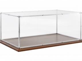 High quality acrylic glass Showcase with aluminum frame and wooden base for models in scale 1:8