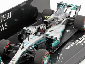 Valtteri Bottas Mercedes F1 W08 EQ Power  #77 2nd Mexiko GP F1 2017