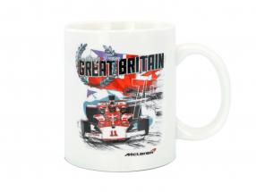 McLaren Greetings from Great Britain Emerson Fittipaldi McLaren M23 Cup White
