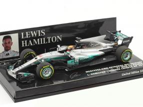 L. Hamilton Mercedes F1 W08 EQ Power+ #44 Sieger China GP Weltmeister Formel 1 2017 1:43 Minichamps