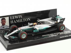 Lewis Hamilton Mercedes F1 W08 EQ Power+ #44 Russland GP Weltmeister Formel 1 2017 1:43 Minichamps