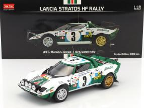 Lancia Stratos HF #3 2nd Safari Rallye 1975 Munari, Drews 1:18 SunStar