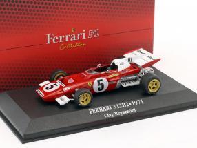 Clay Regazzoni Ferrari 312 B2 #5 Formel 1 1971 mit Vitrine 1:43 Atlas