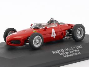 Wolfgang Graf Berghe von Trips Ferrari 156 Sharknose #4 2nd F1 1961 mit Vitrine 1:43 Atlas