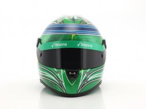 Felipe Massa Williams FW40 Abu Dhabi GP formula 1 2017 Final Race helmet 1:2 Schuberth