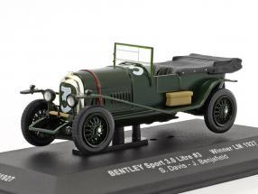 Bentley Sport 3.0 Litre #3 Winner 24h LeMans 1927 Davis, Benjafield 1:43 Ixo