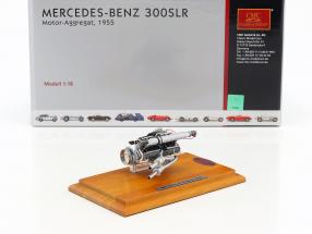 Mercedes Benz 300 SLR motor unit 1955 + Showcase 1:18 CMC
