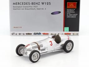 Mercedes-Benz W125 #3 Donington Grand Prix 1937 Manfred von Brauchitsch 1:18 CMC