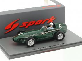 Stuart Lewis-Evans Vanwall VW5 #6 3rd Belgien GP Formel 1 1958 1:43 Spark
