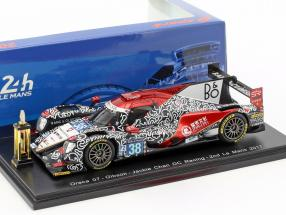 Oreca 07 with Trophy #38 Winner LMP2 Class 2nd 24h LeMans 2017 Tung, Laurent, Jarvis 1:43 Spark