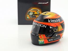 Stoffel Vandoorne #2 McLaren F1 Team formula 1 2018 helmet 1:2 Bell