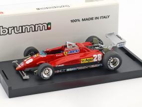 Mario Andretti Ferrari 126C2 #28 3rd Italien GP Formel 1 1982 1:43 Brumm