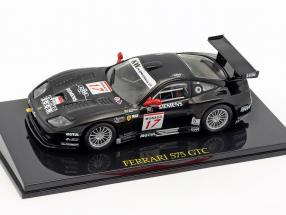 Ferrari 575 GTC GT Donington 2004 #17 Wendlinger, Melo mit Vitrine 1:43 Altaya